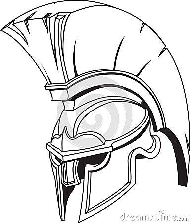 Spartan roman greek trojan gladiator helmet
