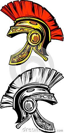 Spartan / Trojan Helmet Logo