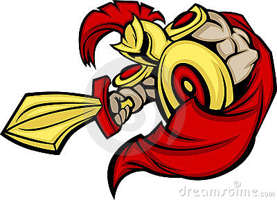 Spartan / Trojan Mascot Logo