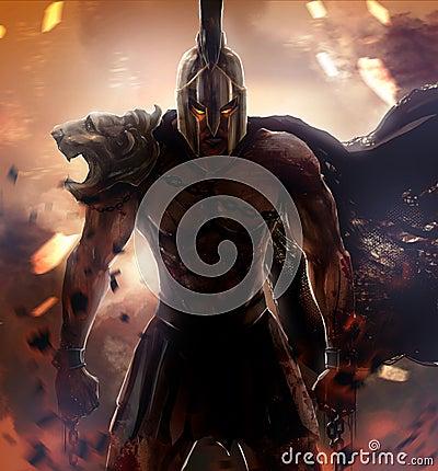 Free Spartan Warrior Stock Photo - 45277830