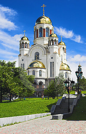 Free Spas-na-krovi Cathedral In Yekaterinburg Stock Photography - 12996562