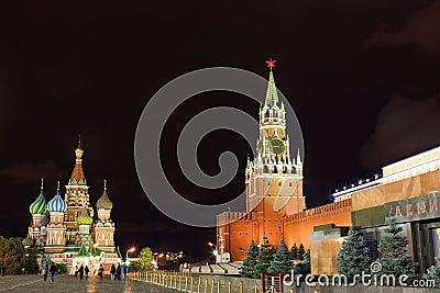 Spasskaya tower of Kremlin