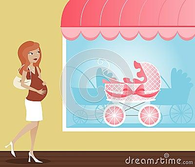 Spaziergänger-Einkaufen