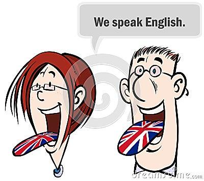 We speak English.