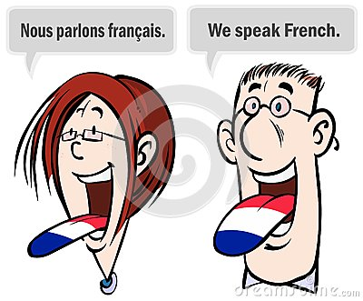 We speak French.