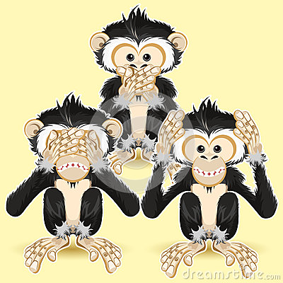 Free Speak No Evil, Hear No Evil, See No Evil Stock Photography - 25003722