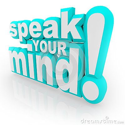 Speak Your Mind 3D Words Encourage Feedback