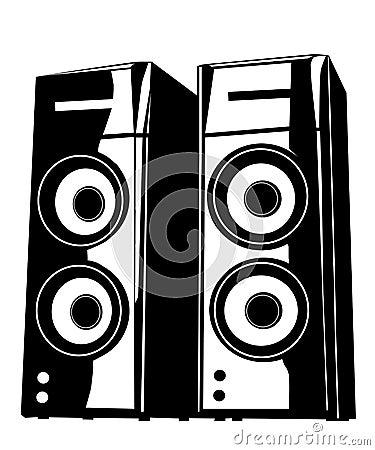 Music speakers vector illustration speaker