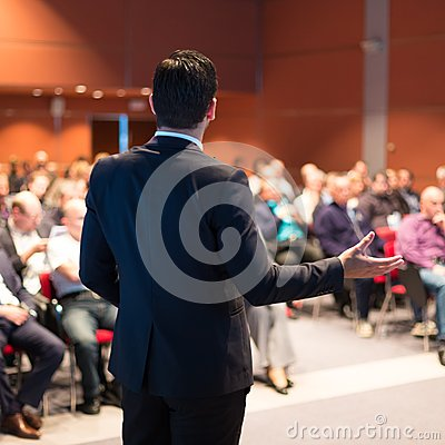 Free Speaker At Business Conference And Presentation. Royalty Free Stock Photography - 41105577