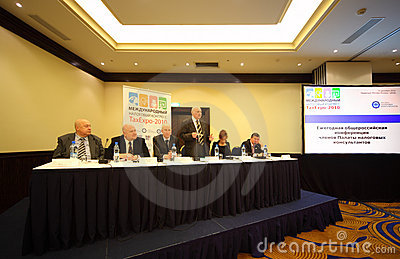 Speaker on International Tax Congress Editorial Stock Photo