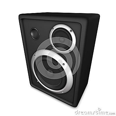 really loud speaker-box or loudspeaker or sub-woofer.