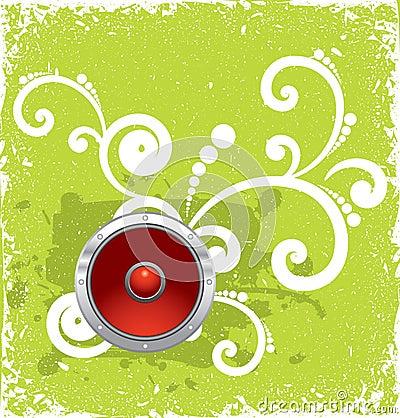 Free Speaker On Green Vintage Background Royalty Free Stock Photo - 6665945