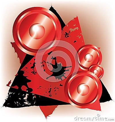 Free Speaker On Grunge Banner Royalty Free Stock Photo - 9736385