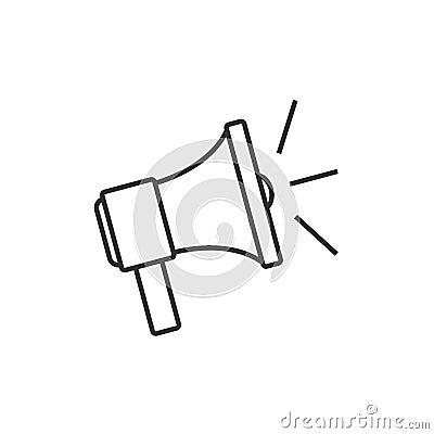 Speaker outline icon Vector Illustration