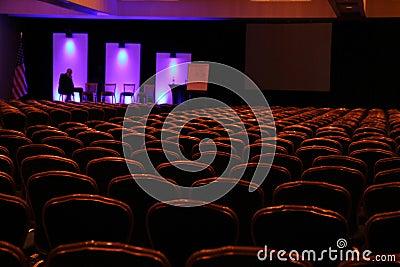 Speaker before the presentation