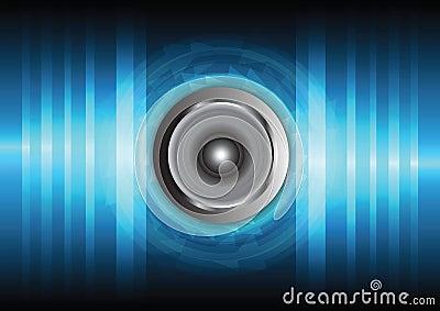 Speaker and sound wave