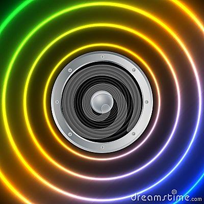 Speaker and sound waves