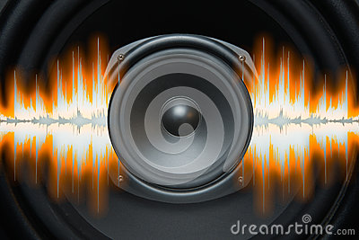 Speaker Sound Waves