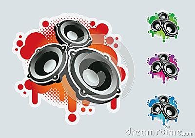 Speaker symbol set.