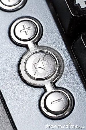 Speaker volume control key