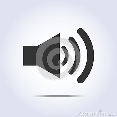 Free Speaker Volume Icon Gray Colors Royalty Free Stock Image - 46864676