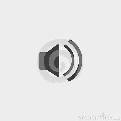Free Speaker Volume Icon In A Flat Design In Black Color. Vector Illustration Eps10 Stock Photo - 83896520