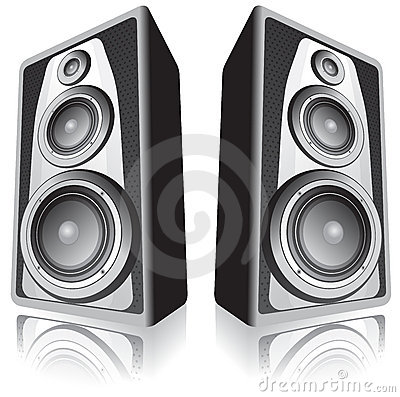 Free Speakers On White Background Stock Images - 4698404