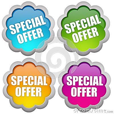 Specail offer sticker