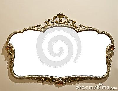 Specchio antico sulla parete del grunge fotografia stock for Specchio rotondo antico