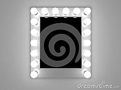 Specchio di trucco immagine stock libera da diritti - Specchio con lampade intorno ...
