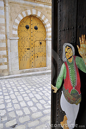 Special doors in  Tunis Medina