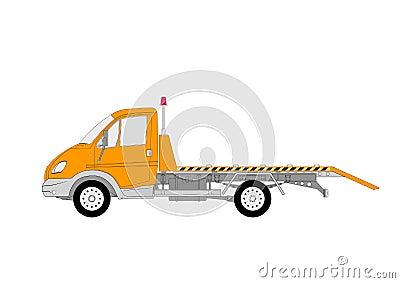 Special evacuation lkw truck vector