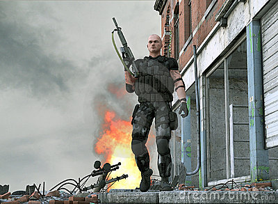 Special forces army soldier - video game