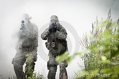 Special forces on battle field