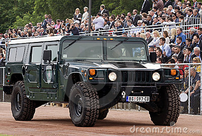 Special forces combat vehicle on parade-2 Editorial Photo
