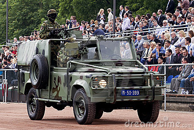 Special forces jeep on parade Editorial Image