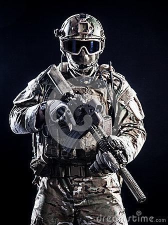 Free Special Forces Soldier Stock Photography - 48545092