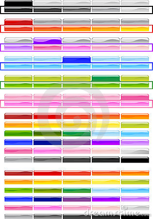 Free Special Horizontal Menu Buttons Royalty Free Stock Photos - 4938958