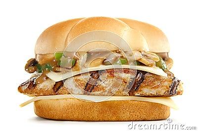 Special mushroom  burger
