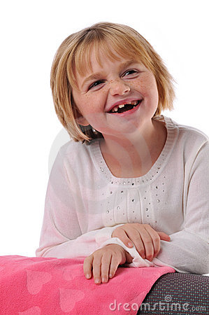 Special needs child smiling