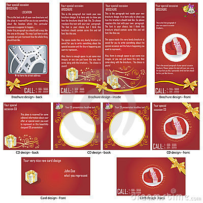 Special occasion stationary template