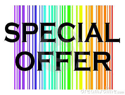 Special offer with colorful background