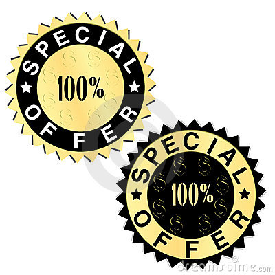 Special offer golden labels