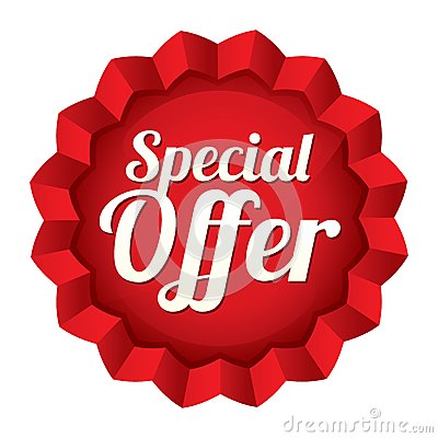 Free Special Offer Price Tag. Vector Star Sticker. Stock Photo - 33333490