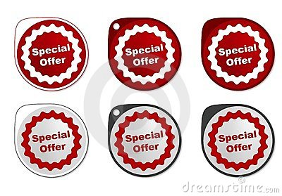 Special Offer round sticker