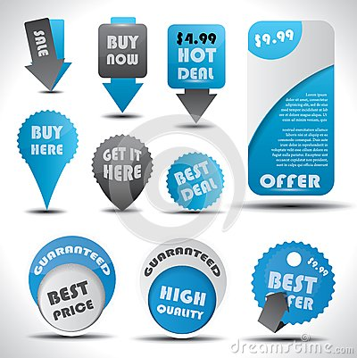 Special offer and sale labels, icons and stickers