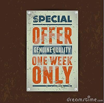 Special offer Sale vintage metal tin