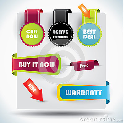Special offer and warranty labels