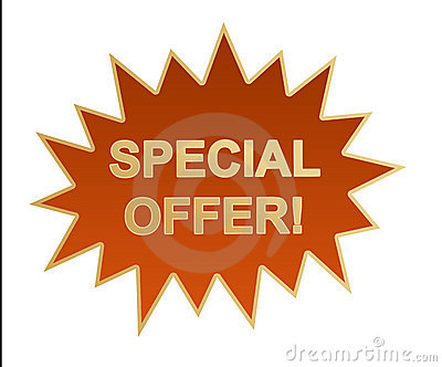 Special offer web icon / stick