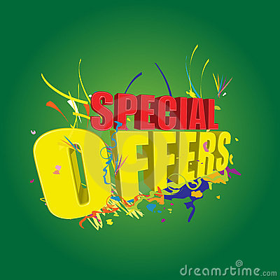 Special offers 3D on green background